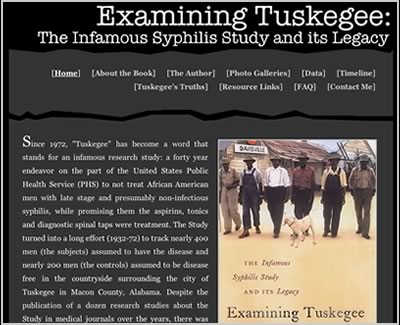 Susan Reverby is the author of Examining Tuskegee, the Infamous Syphilis Study and its Legacy